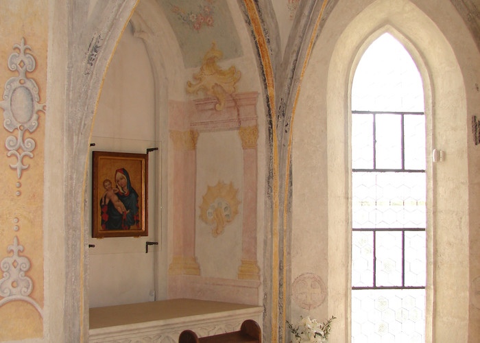 The Abbey Chapel, featuring the painting of the Madonna of the Golden Crown