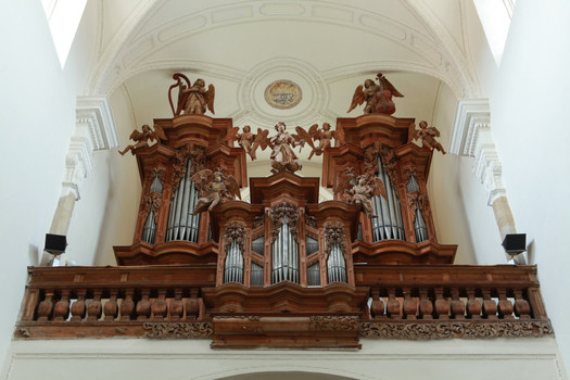 A baroque organ in The Church of the Assumption of the Virgin Mary , photographer Petr Šebek